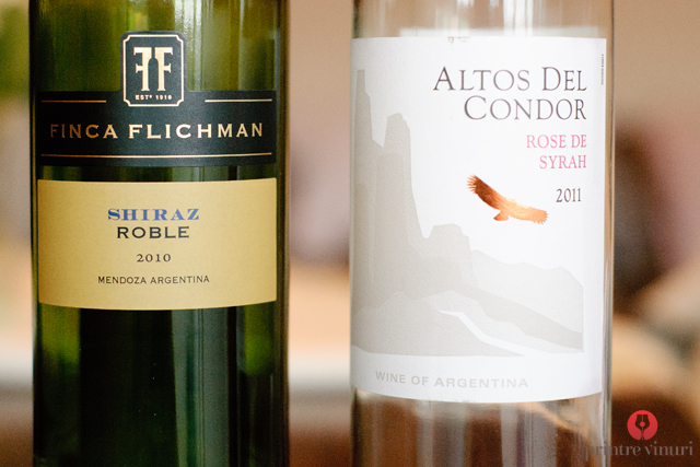 Altos del Condor Rose de Syrah & Finca Flichman Shiraz Roble