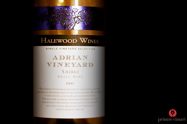 Shiraz Single Vineyard Selection Adrian 2011, Cramele Halewood