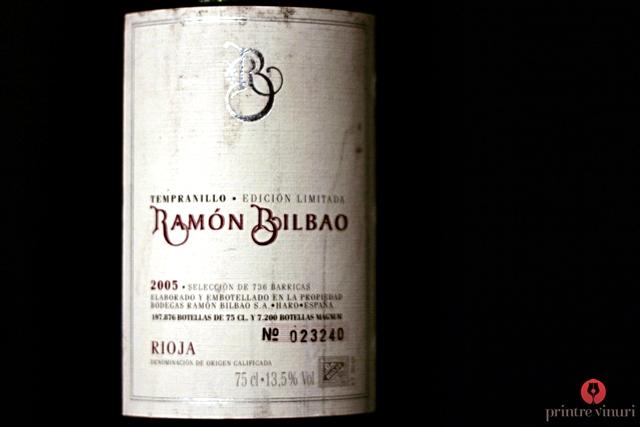 Tempranillo Edicion Limitada Crianza 2005 Rioja, Ramon Bilbao