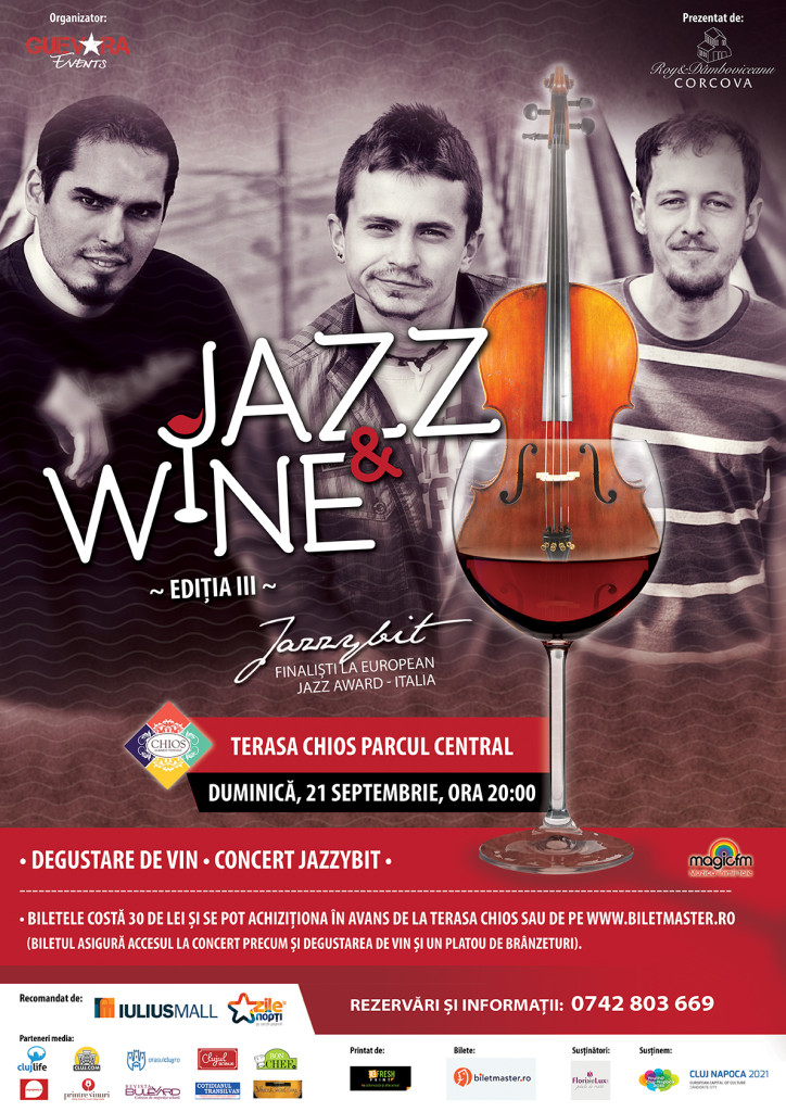Jazz & Wine III: Jazzybit & Corcova @ Terasa Chios, Cluj-Napoca