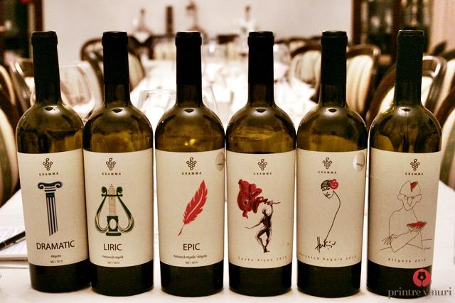7 vinuri albe si unul rosu de la Gramma @ Enoteca Millesime, Oradea