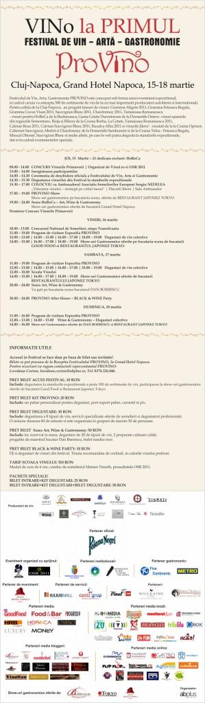 Program complet Provino Cluj-Napoca 2012