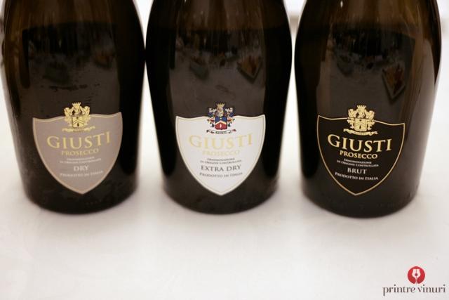 Giusti si Case Paolin: spumante Prosecco si vinuri linistite din Veneto, Italia @ Enoteca Millesime, Oradea